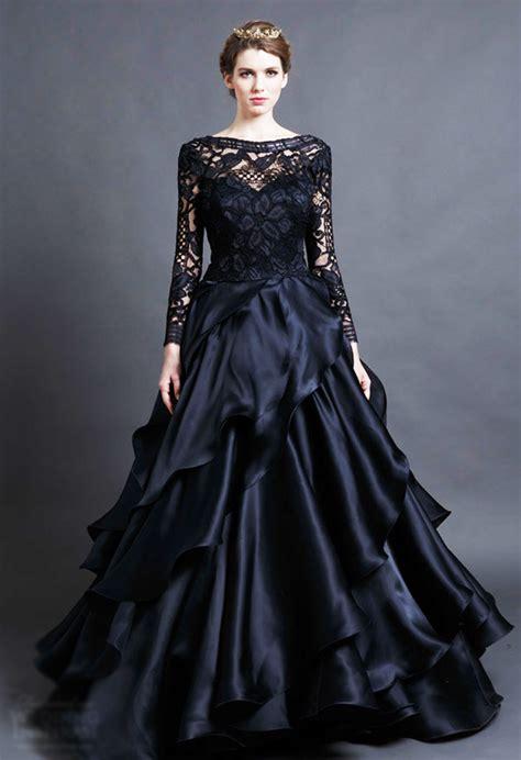 hochzeitskleid in schwarz 15 beautiful black wedding dresses bridal gowns