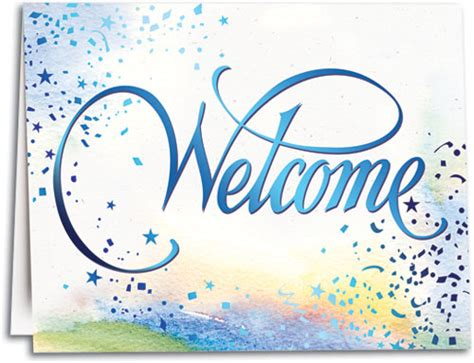 Welcome Card Design Template by Confetti Welcome Note Sized Folding Card Smartpractice