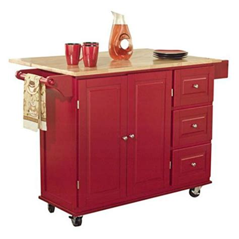red kitchen island cart tms kitchen cart and island this portable small island