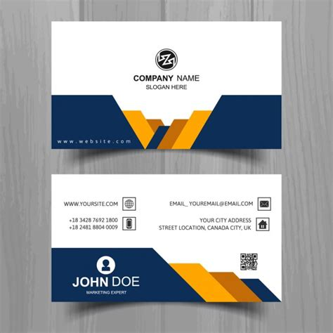 business cards shapes templates modern business card with yellow and blue geometric shapes