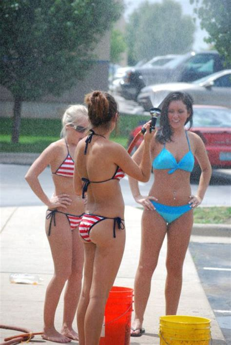 high school girls bikinis bikini car wash