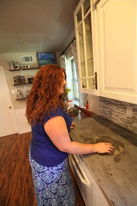 Removing Stains & Resealing Concrete Countertops   Run To