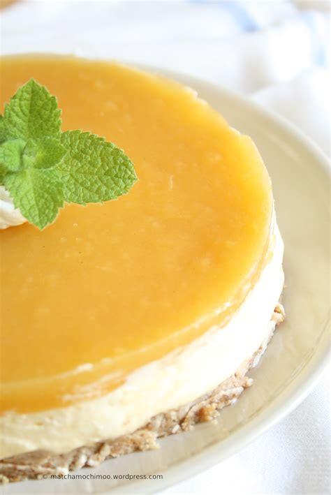 Mango Cheesecake no bake mango cheesecake matchamochi