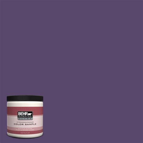 behr premium plus ultra 8 oz p570 7 proper purple interior exterior paint sle ul20316 the