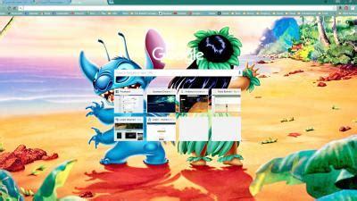 theme google chrome lilo stitch lilo stitch blue chrome theme themebeta