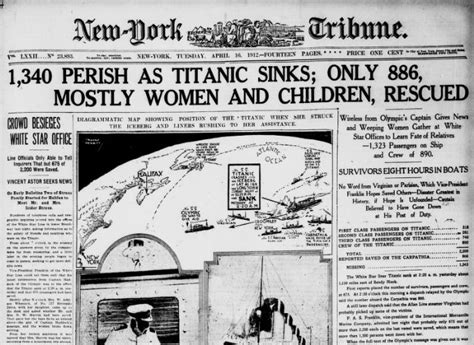 Titanic Sinks Newspaper by The Titanic In The News And In Memory Teaching With The