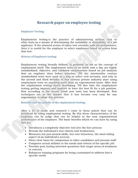top research papers assignment research paper on employee testing www