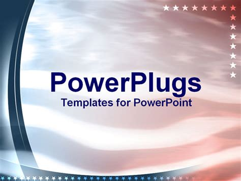 usa powerpoint template faded up of us flag with lining powerpoint