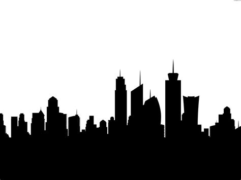 City Outline Vector by City Skyline Silhouette Psdgraphics