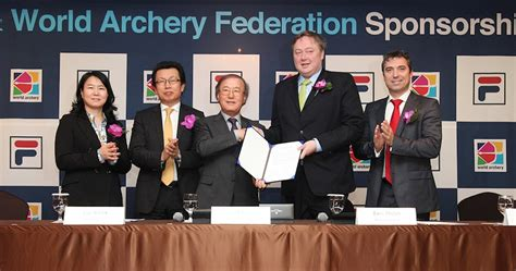 massimo candela fila world archery announces new four year sponsorship