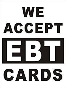Amazon Gift Card Accepted Stores - amazon com 3ftx4ft we accept ebt cards banner sign ebt accepted banner sign