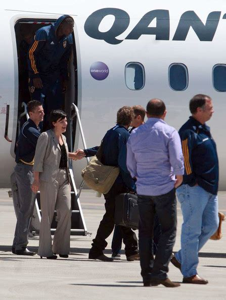 The Beckhams Arrive In Los Angeles by David Beckham And The Los Angeles Galaxy Football Team