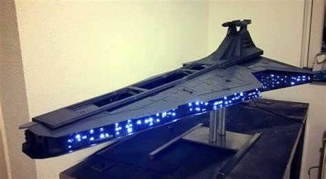 sw boat with fan the force is with this amazing star destroyer pc chassis
