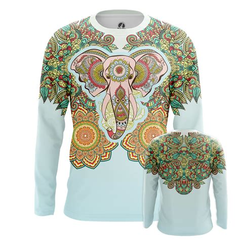elephant pattern clothes mens longsleeve elephant tattoo tattoos print clothes