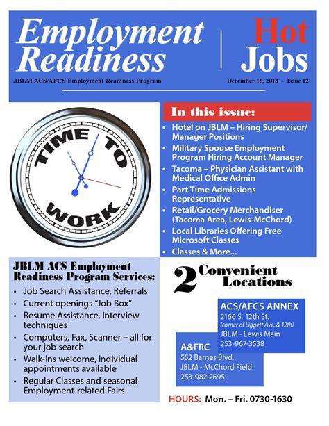 Jblm Resume Help jblm employment readiness issue 12 dec 16 2013