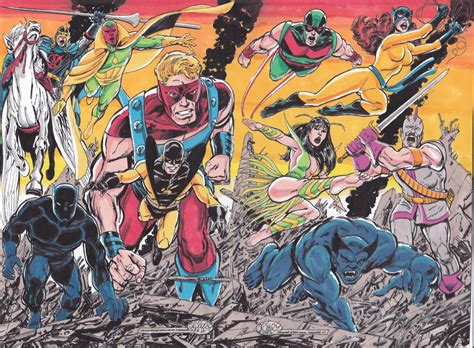 john byrne avengers assembled 2 colored in rich cirillo s rich s original colors comic art