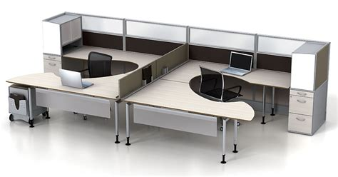 Dual Office Desk by Modular Office Furniture Watson Fusion Dual Worksttion