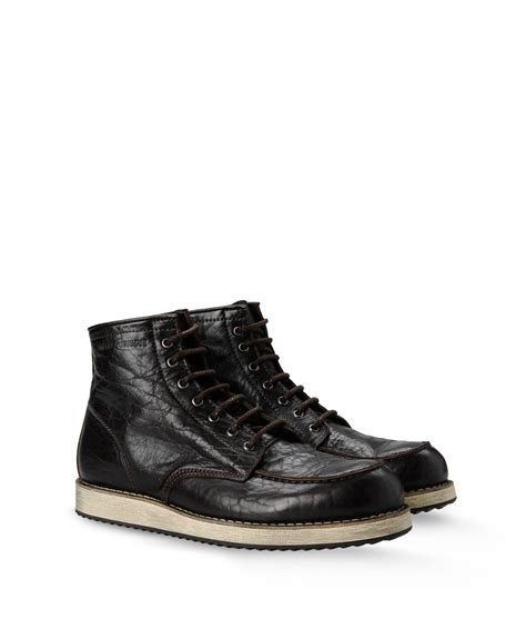 armani boots for emporio armani ankle boots in black for lyst