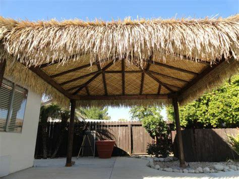 Tiki Hut Thatch Roofing thatch roll materials for tiki bar hut roof contruction