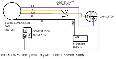 universal condenser fan motor 4 wire ac motor wiring diagram wiring diagram and