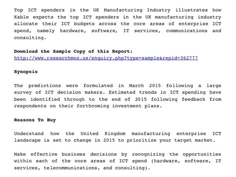top ict spenders in the uk manufacturing industry estimated ict bud