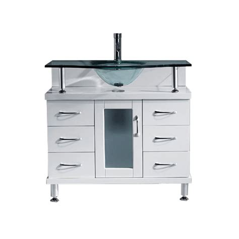 36 Inch Bathroom Vanity With Top Aqua 36 Inch Bathroom Vanity White Finish Clear Glass Vanity Top