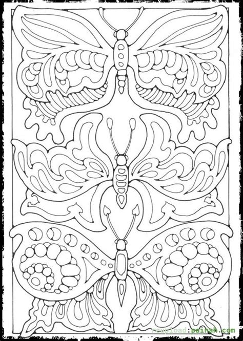 advanced butterfly coloring pages advanced coloring pages for adults butterfly colouring