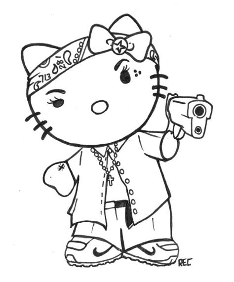 h town tattoo hello kitty chola 713 rec by txrec on