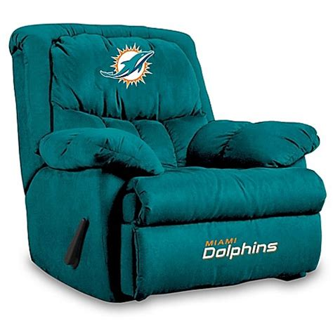 miami dolphins recliner nfl miami dolphins microfiber home team recliner