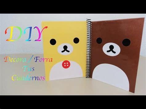 como decorar mis utiles kawaii decora forra tus cuadernos rilakkuma korilakkuma
