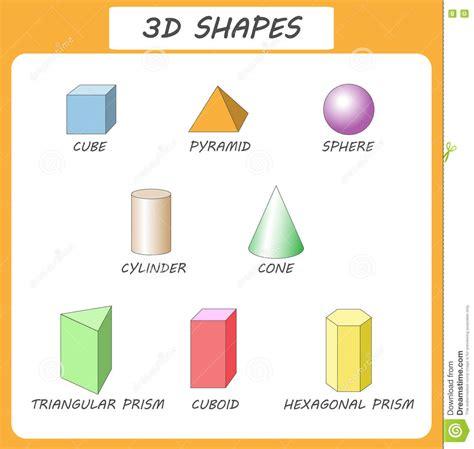 figuras geometricas solidas para niños formas del vector 3d cartel educativo para los ni 241 os