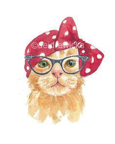 d 233 jate llevar por el color naranja y negro en tu cocina gato de color naranja imprimir acuarela ilustraci 243 n de