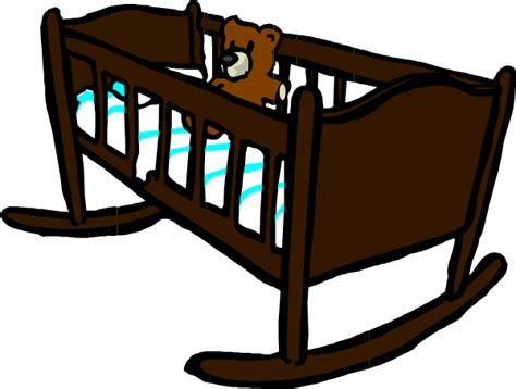 Crib Clipart by Brown Crib Clip At Clker Vector Clip