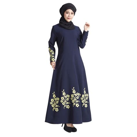 Maxi Dress Muslim Dress Wanita Wilsa Maxi muslim dubai formal kaftan cocktail jilbab abaya islamic maxi dress ebay