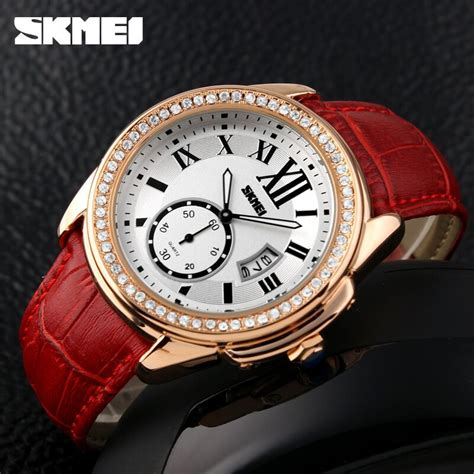 Murah Jam Tangan Wanita Skmei Casual Leather 1147cl 30m skmei jam tangan analog wanita 1147cl golden