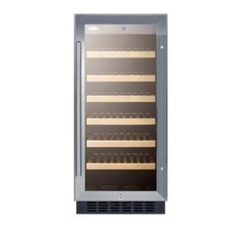 summit appliance 15 in 33 bottle built in wine cooler