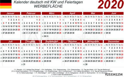kalender  rot quer deutsch mit feiertagen    mm buy  stock vector