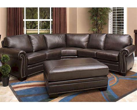 italian leather sofa sectional abbyson oxford italian leather sectional sofa ab 55ci n410 brn