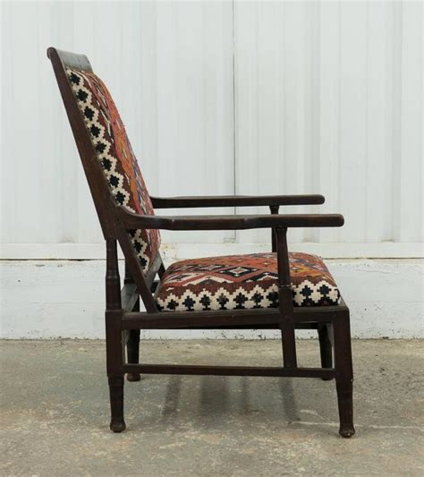 sofas on sale in india vintage indian armchair upholstered in vintage kilim rug for sale at 1stdibs