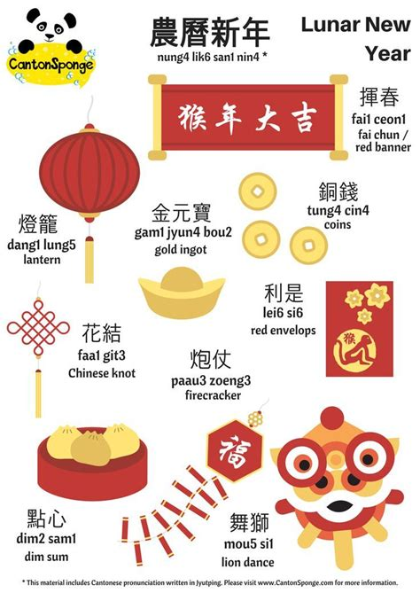 lunar new year facts bilingual lunar new year poster with