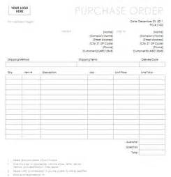blank purchase order form template purchase order with simple lines design