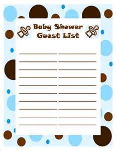 Baby Shower Guest List Template template of baby shower guessing and guest list