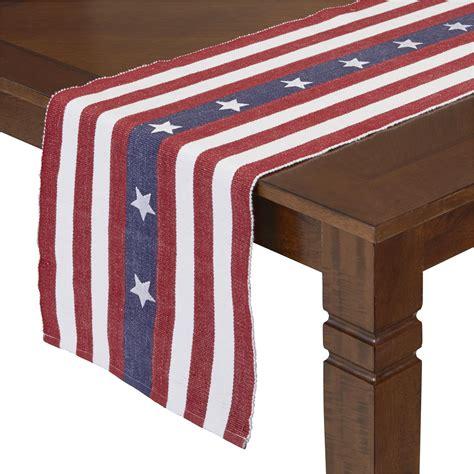 essential home patriotic table runner stripes