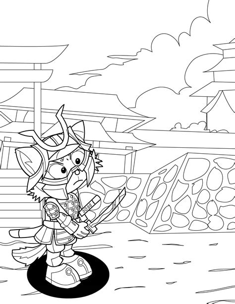 detailed coloring page samurai coloring pages