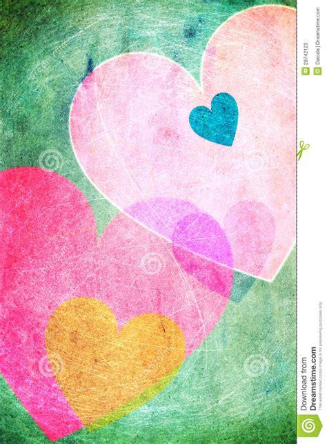 imagenes alegres de colores vintage alegre del fondo de los corazones fotos de archivo