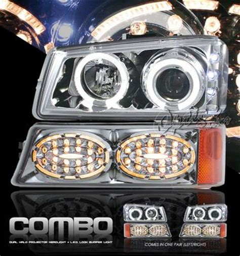 chevy avalanche 2003 2006 clear halo projector headlights