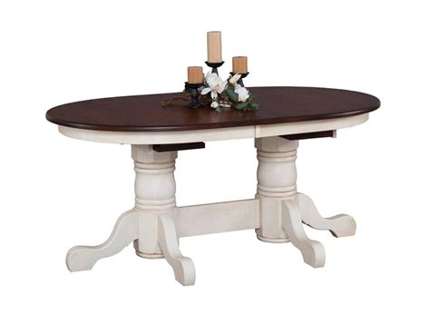 double pedestal dining room table amish nantucket double pedestal dining room table