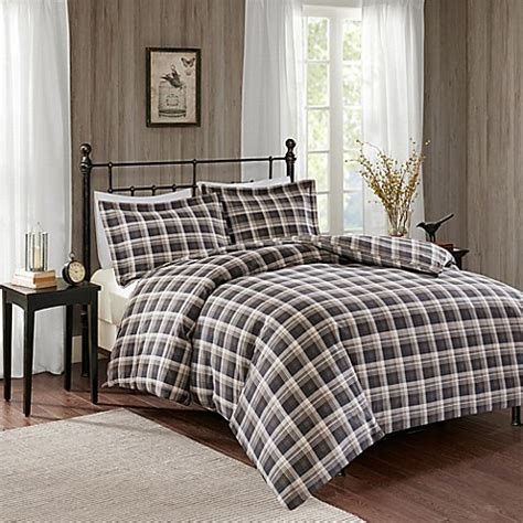 queen flannel duvet cover buy woolrich 174 flannel duvet cover set in brown from bed bath beyond