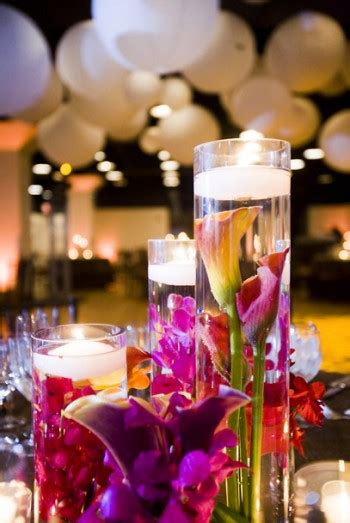 show me your submerged centerpieces reception project