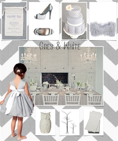colour code grey and white wedding theme the bijou ltd